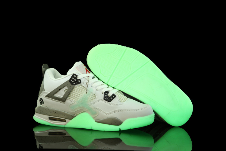 Nice Air Jordan 4 Midnight White Grey Shoes