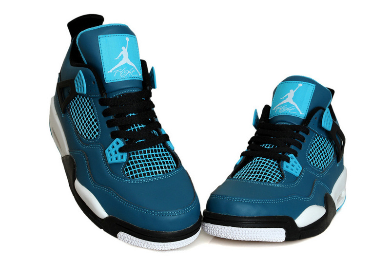 2015 Jordan 4 Teal Blue Black White
