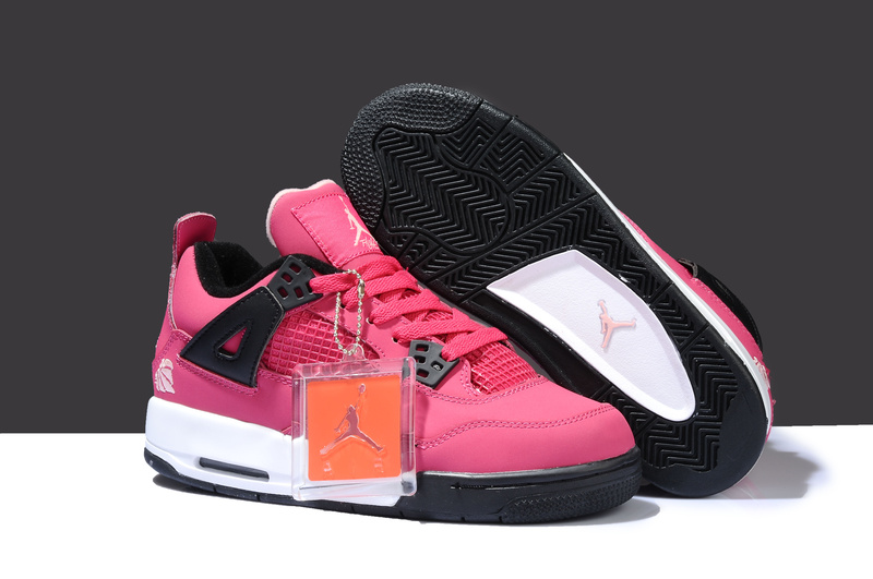 Special Air Jordan 4 Thor Pink White Black Shoes