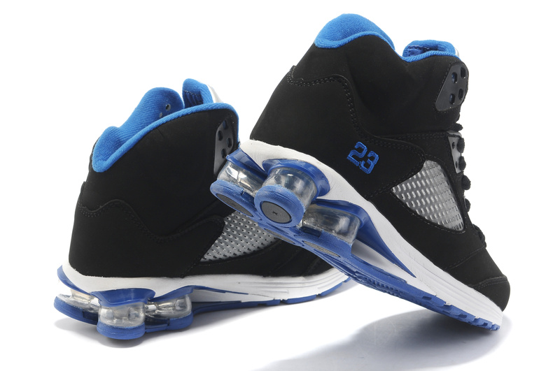 Comfortable Air Jordan 5 Cushion Black Blue