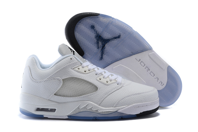 Latest Air Jordan 5 Low Shoes All White