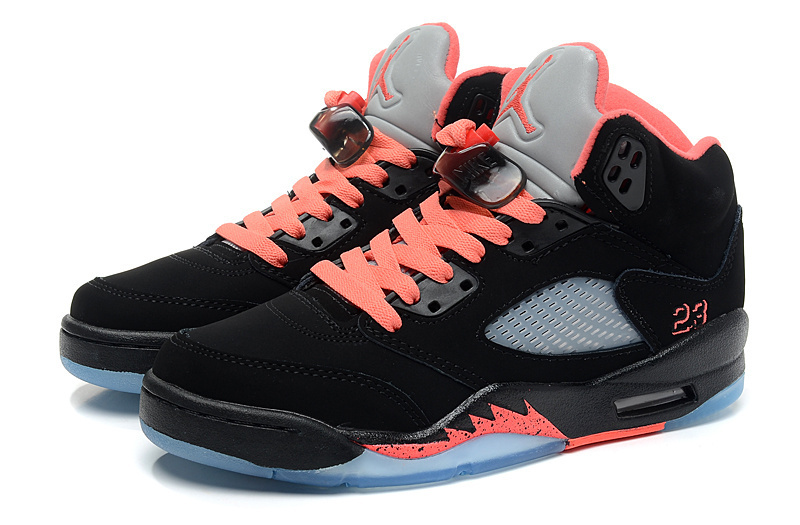2015 Jordan 5 Black Orange Women