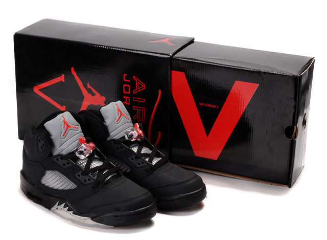 Air Jordan 5 Retro Hardcover Box Black White Red