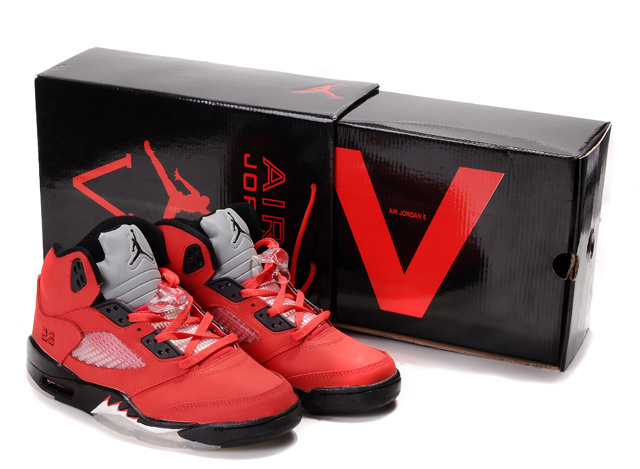 Air Jordan 5 Retro Hardcover Box Red Black White