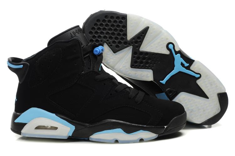 air jordan 6 black and blue