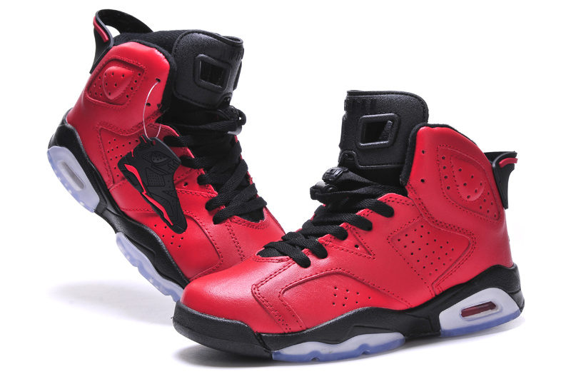 2015 Jordan 6 Bulls Red Black Women