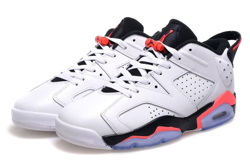 2015 Air Jordan 6 Low Cut White Black Pink Shoes For Women