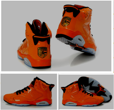 2012 Air Jordan 6 Porsche Edition Orange Grey Shoes