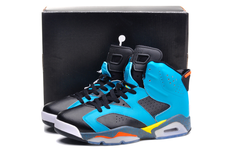 2015 Jordan 6 Black Gunfighter Blue