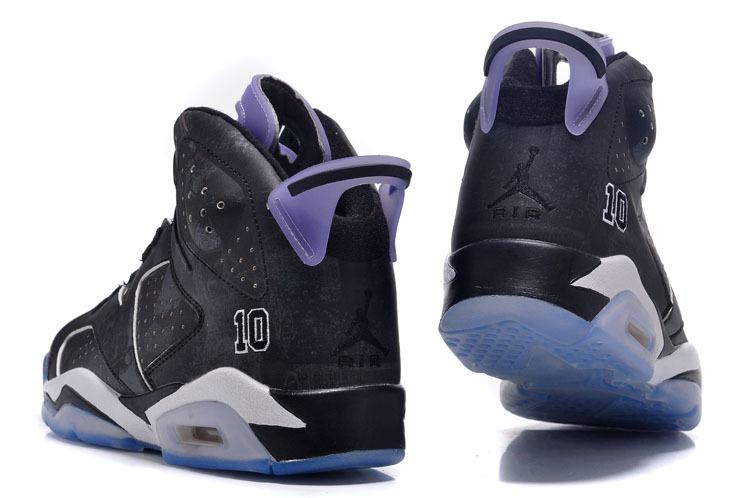 2015 Jordan 6 Slam Dunk Black White Purple