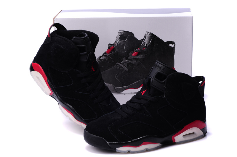 air jordan shoes black and red