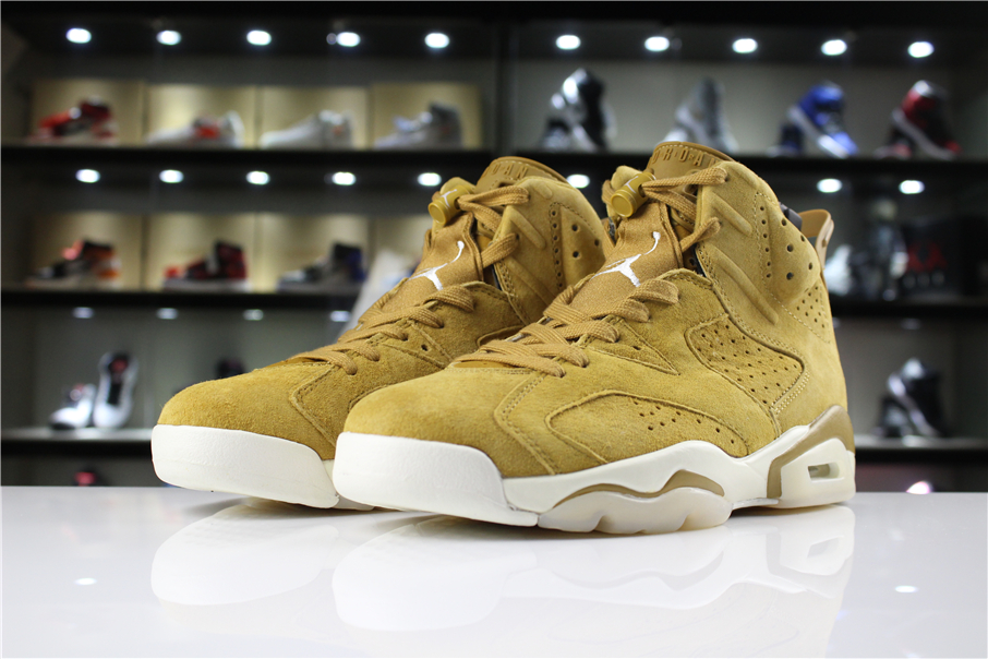Air Jordan 6 Wheat Golden Harvest Elemental Gold
