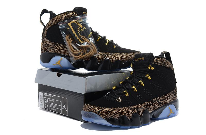 New Air Jordan 9 Hardcover Black Brown Shoes