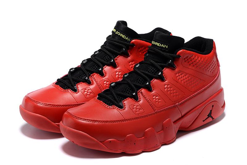 Air Jordan 9 Low Red Black Shoes On Sale