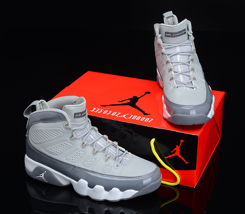 Popular Air Jordan 9 Reissue Grey White Shoes