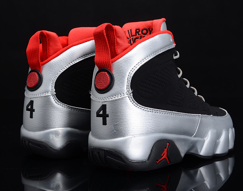 Air Jordan 9 IX Retro Mens Shoes Black Silver
