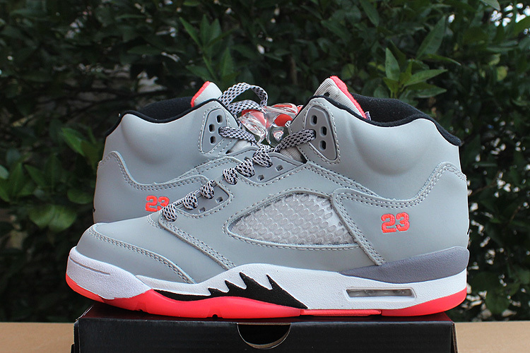2015 Air Jordan Hot Lava Grey Pink Shoes For Women
