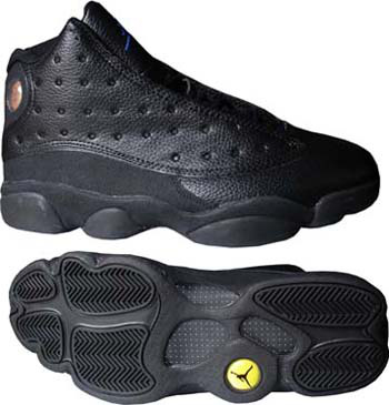 Air Jordan Retro 13 All Black Shoes