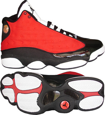 Air Jordan Retro 13 Red White Black
