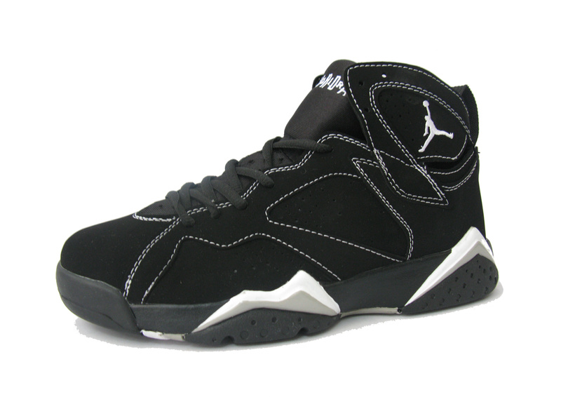 Air Jordan Retro 7 Black White Shoes
