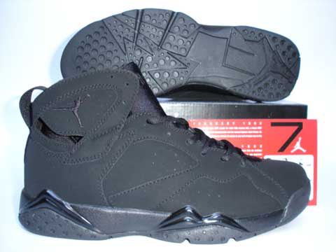 Air Jordan Retro 7 Dark Black Shoes