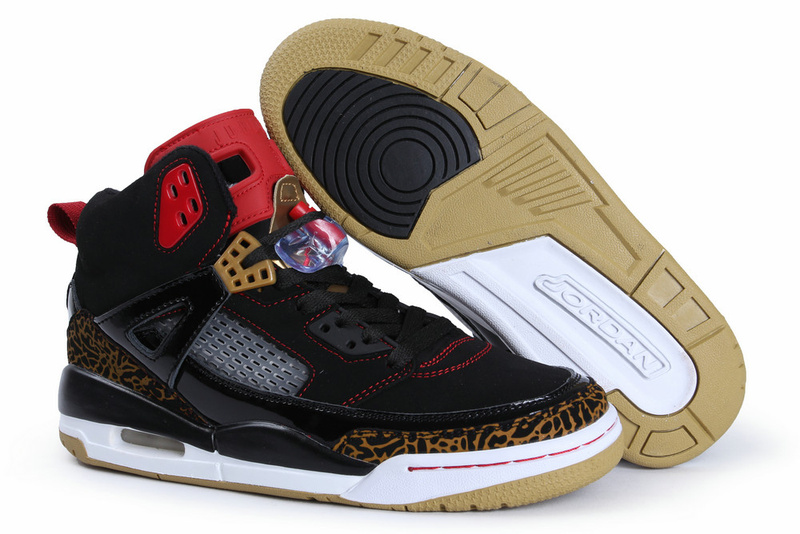 Jordan Spizike Black White Gold Shoes