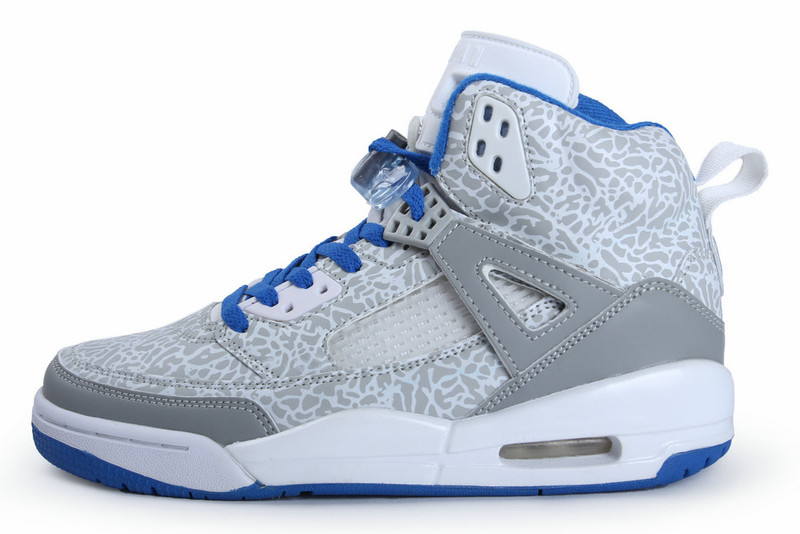 Jordan Spizike White Grey Blue Shoes