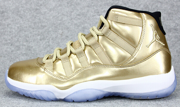 New All Gold White Air Jordan 11 Retro Shoes