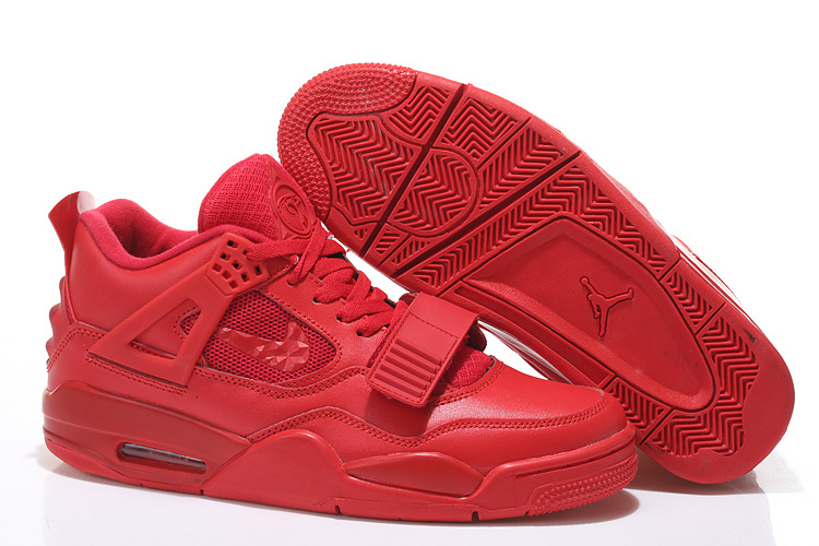 2015 Air Jordan 4 All Red With Strap