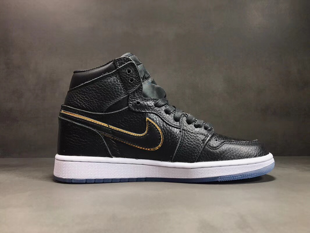 All Star Air Jordan 1 High OG Los Angeles Black Metallic Gold Summit White
