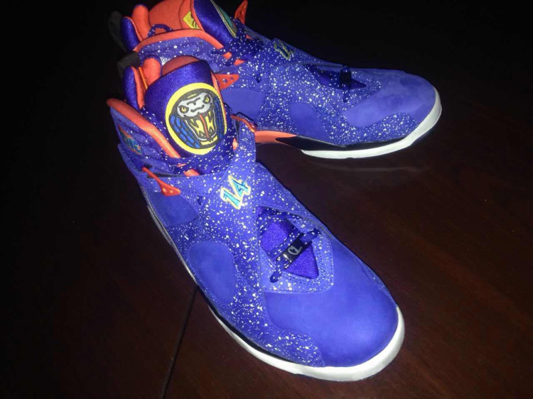 2015 Air Jordan 8 Doernbecher Blue Red Shoes