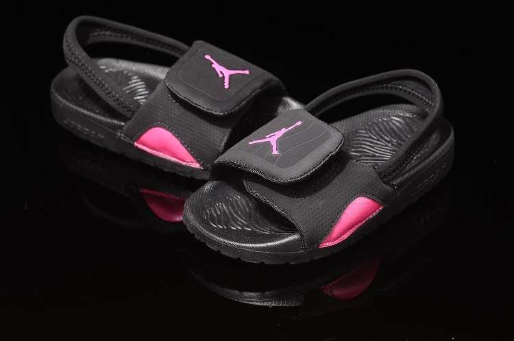 2015 Black Pink Air Jordan Hydro For Kids