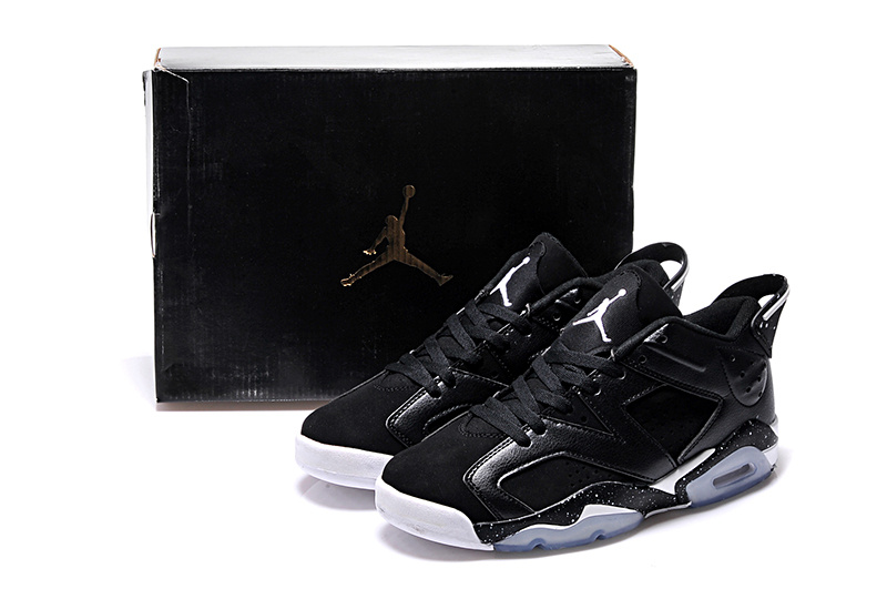2015 Black White Air Jordan 6 Low Lovers Shoes