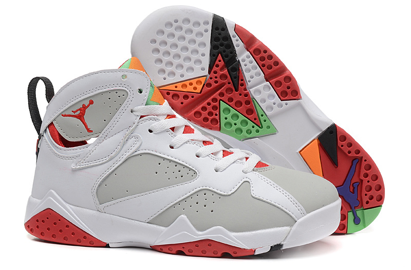 2015 Air Jordan 7 Bugs Bunny White Grey Red For Women