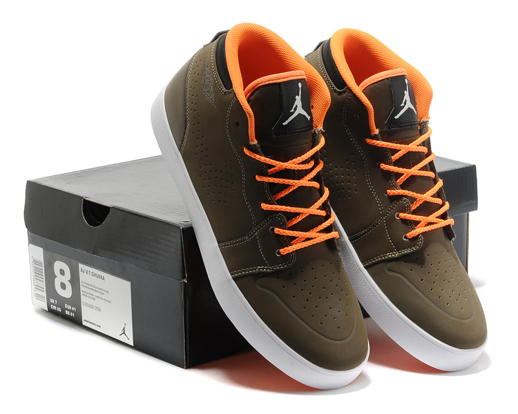 2015 Casual Jordan 1 Coffe Orange Shoes