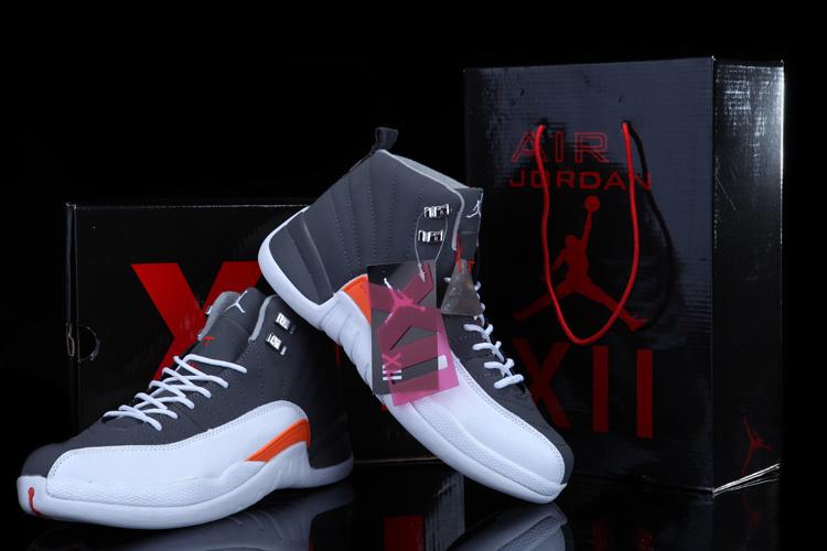 2012 Air Jordan 12 Grey White Chalcedony Shoes