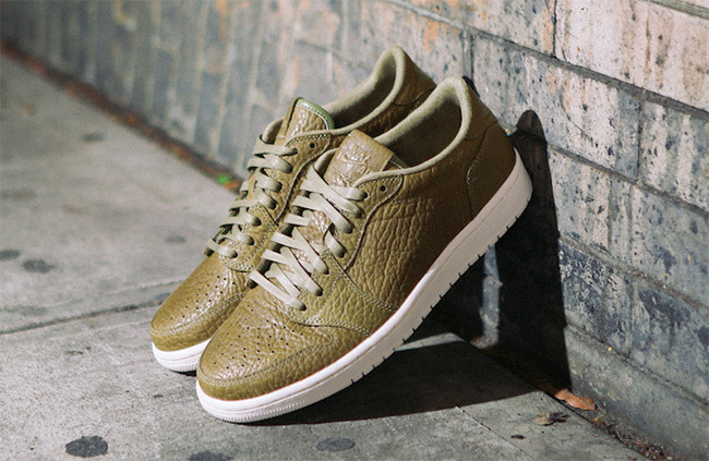 Classic Air Jordan 1 Army Green Shoes On Sale