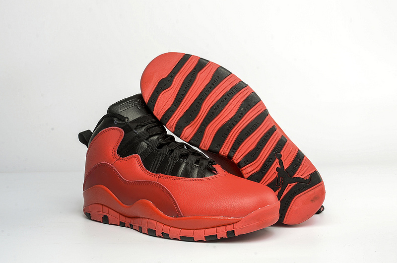 Classic Air Jordan 10 Red Black Shoes On Sale