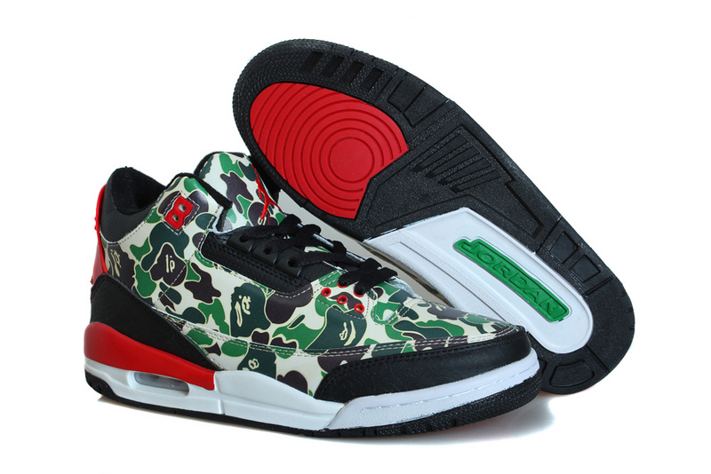 Classic Air Jordan 3 Camo New Colorway Shoes