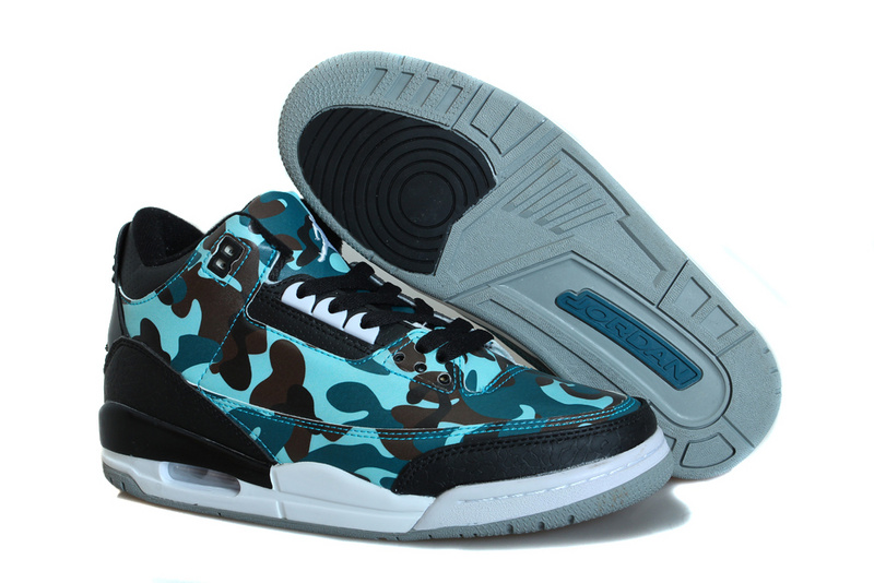 Classic Air Jordan 3 Dark Camo Basketball Shoes