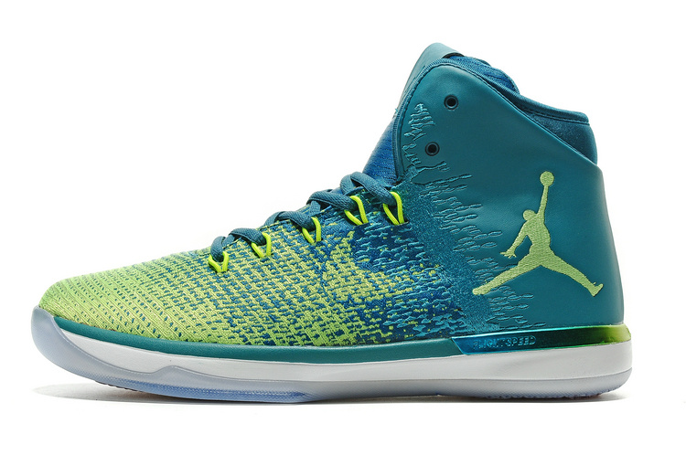 Classic Air Jordan 31 Blue Green Shoes