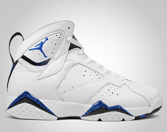 Classic Air Jordan 7 White Blue Shoes On Sale
