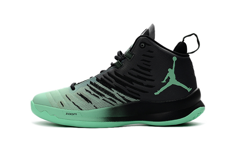 Classic Air Jordan Super Fly X 2016 Black Green Shoes