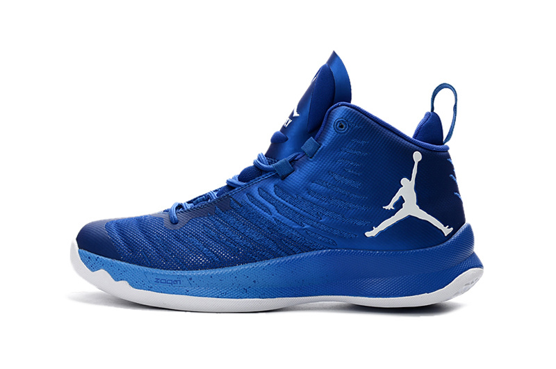 Classic Air Jordan Super Fly X 2016 Blue White Shoes
