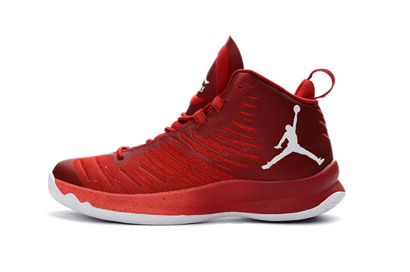 Classic Air Jordan Super Fly X 2016 Red White Shoes