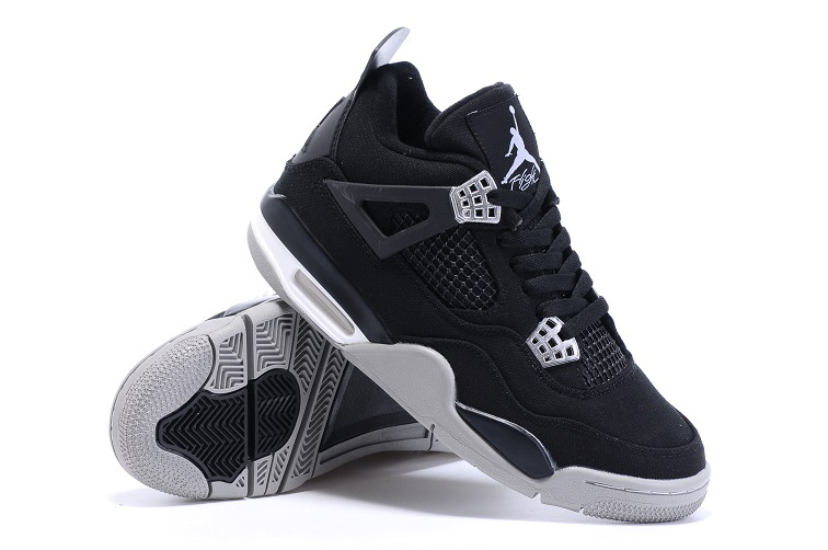 2015 Eminem x Carhartt x Air Jordan 4 Black White Shoes