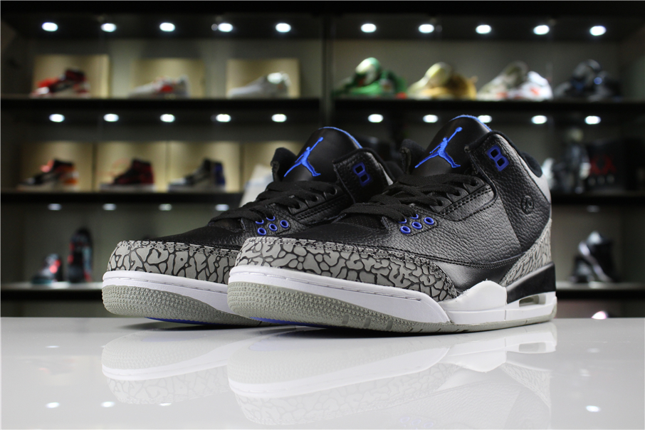 Fragment Design x Air Jordan 3 Retro Black Royal Blue White