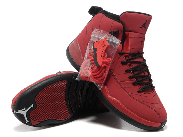 Hardcover Air Jordan 12 Red Black Shoes