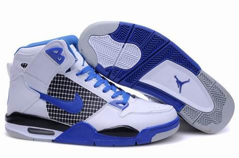 New High Heel 2012 Air Jordan 4 White Blue Grey Shoes