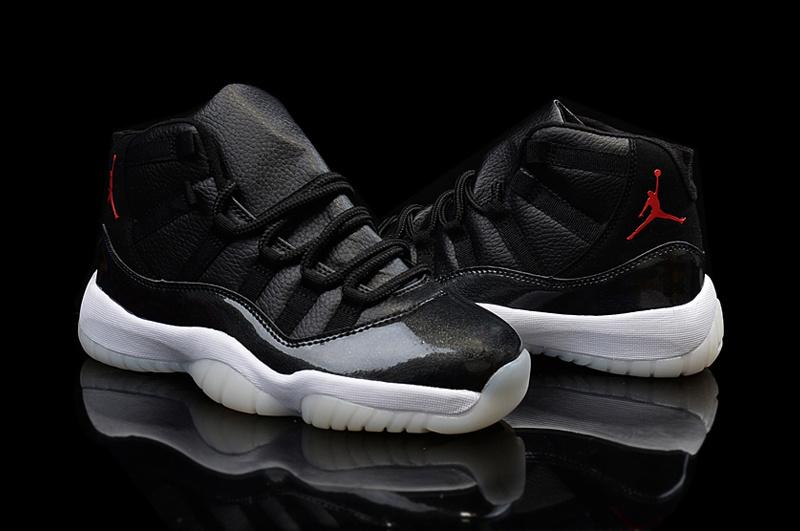 2015 Hot Air Jordan 11 Shoes Black Red Jumpman